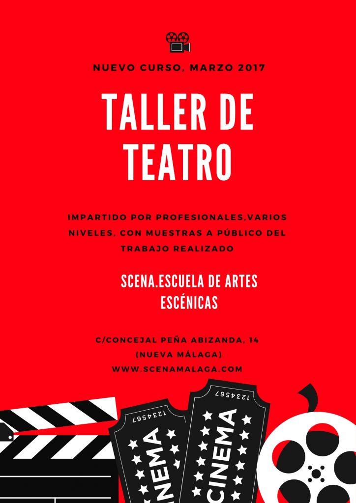 Cartel teatro marzo